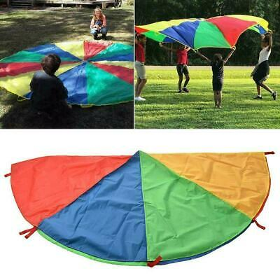 Kids Play Rainbow Parachute Outdoor Exercise Game Sport 2-4M Toy Quality Hi L0Z1 • 7.14£