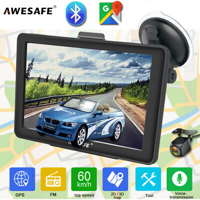 AU86.99 • Buy 7 AWESAFE Bluetooth GPS Navigator For Car SAT NAV POIs Reverse Camera 8GB AU Map
