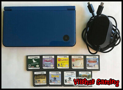 $59.99 • Buy Nintendo DSi XL Midnight Blue With 9 Games & Charger UTL-001