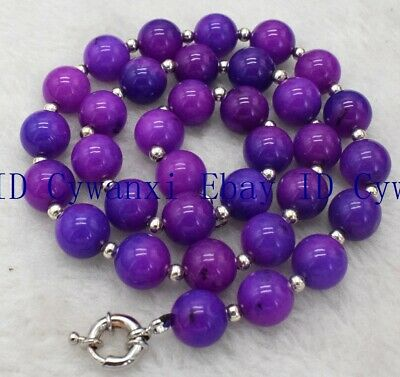$1.58 • Buy 8mm PURPLE AFRICA SUGILITE GEMS BEADS NECKLACE 18'' AAA