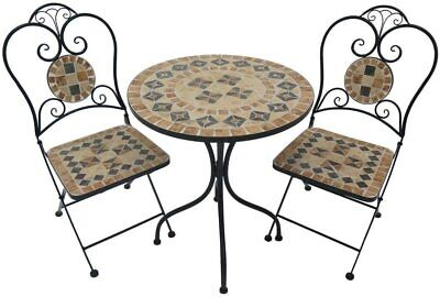 AU199 • Buy 3PC Bistro Balcony Setting Outdoor Use Garden Patio Table Chairs Set