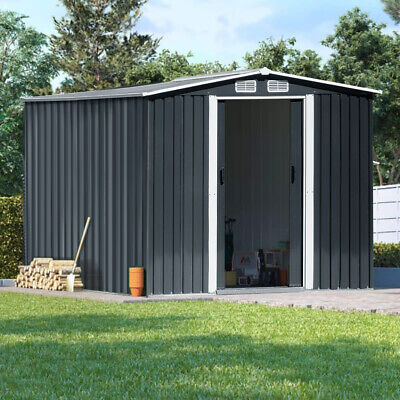 £479.95 • Buy Metal Tool Shed 10x8ft Outdoor Storage House Sheds With Foundation 15m³ DeepGray