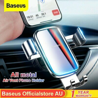 AU18.99 • Buy Baseus GRAVITY Car Phone Holder Air Vent Auto-Clamping Mount For IPhone Samsung