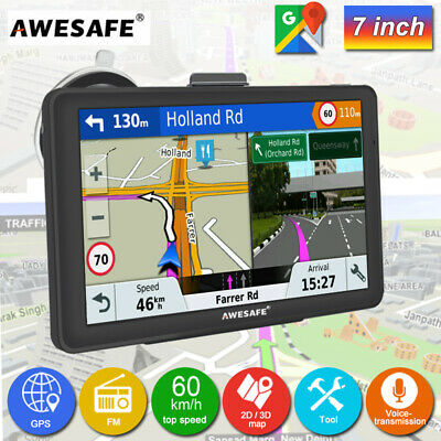 AU80.99 • Buy AWESAFE 7  Portable GPS Navigator For Car Truck SAT NAV With Free AU Maps 8G+256