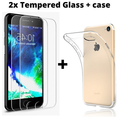 Tempered Glass Screen Protector For IPhone 8 7 6 6S Plus X XS Full Cover • 2.99£