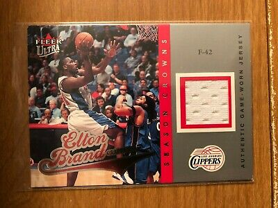 AU5.28 • Buy 2004/5 Ultra Season Crowns Game Used Jersey Card Elton Brand 192/349 Clippers