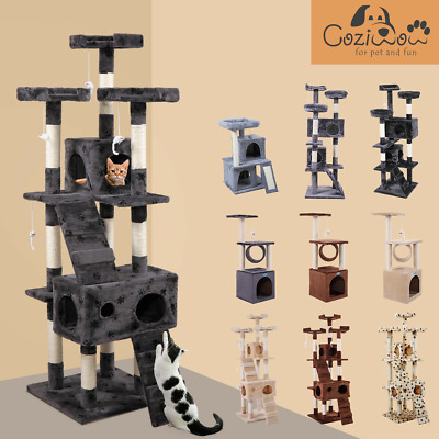 AU80.99 • Buy 169cm Cat Tree Scratching Post Pole Tower Condo Kitty Activity Center Bed Stand