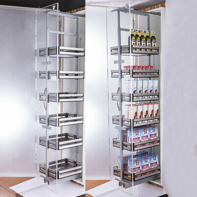 £205.95 • Buy 6 Tiers 300mm/400mm Kitchen Cabinet Larder Pull Out Soft Close Unit 1850-1950mm