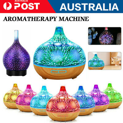 AU45.80 • Buy 400ML Aromatherapy Diffuser 3D Aroma Essential Oils Ultrasonic Air Humidifier