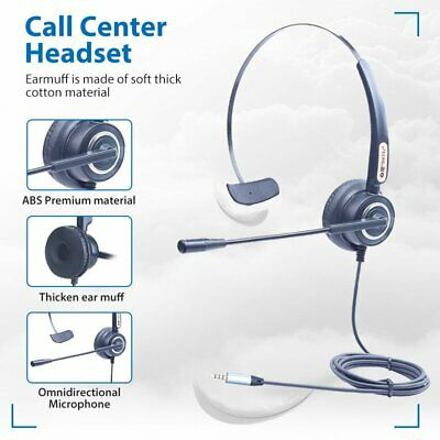 3.5mm Noise Cancelling Microphone Headset For Call Centre Office Telephone • 18.99£