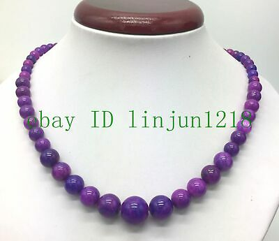$1.25 • Buy Natural 6-14mm  Round Purple Sugilite Gemstone Bead Jewelry Necklaces 18  Inches