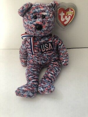 $1200 • Buy Ty Beanie Babies USA 2000 Bear Nwt Rare