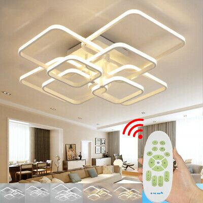 £59.95 • Buy Alumi Suqare/Circle Design LED Ceiling Lights Lamp Chandelier For Living Bedroom