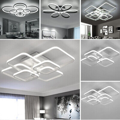 Modern Lamp Square/Ring LED Ceiling Light Chandelier Lights Living Dining Room • 59.94£