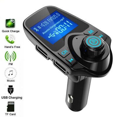 Car Kit Charger Dual USB Ports Bluetooth FM Transmitter Radio MP3 Adapter  • 8.99£