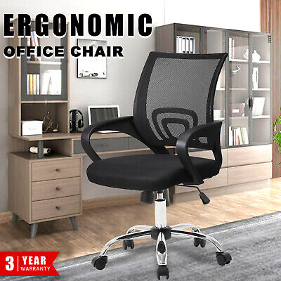 AU89.90 • Buy Office Chair Mid Back Mesh Gaming Executive Racer Computer Foam Seat Black