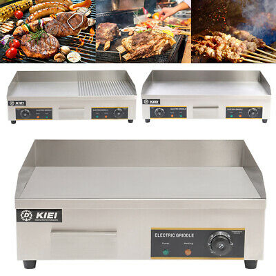 Commercial Electric Griddle Countertop Flat Grill Griddles BBQ Plate KitchenCook • 95.95£