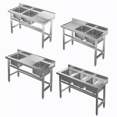 £199.95 • Buy Stainless Steel Catering Sink Commercial Kitchen Wash BASIN SINKS Table & Waste