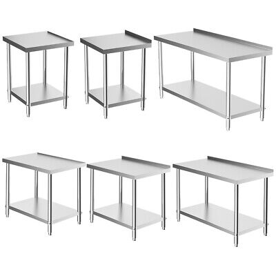 Commercial Prep Catering Table Work Bench Kitchen Dissecting Top Stainless Steel • 59.94£