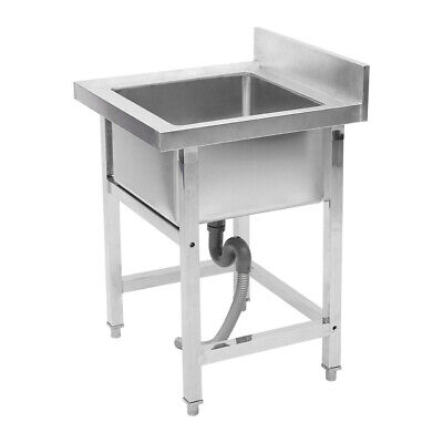 Commercial Catering Stainless Steel Sink Kitchen Handmade Wash Table Single Bowl • 185.95£