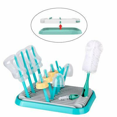 £13.09 • Buy Baby Bottle Drying Rack Shelf Baby Countertop Dryer Cleaning Drainer With Brush