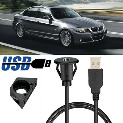 AU12.62 • Buy 1m/2m Car Dash Board Mount USB 2.0 Male To Female Socket Panel Extension Cable