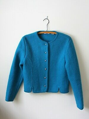 $15 • Buy Carroll Reed Boiled Wool Jacket (like Geiger);  Color Teal;  Size 10 Unlined