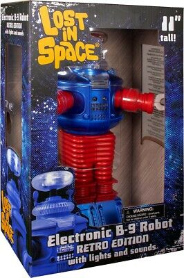 AU89.99 • Buy LOST IN SPACE ~ Retro B-9 Electronic Robot 11  Action Figure (Diamond Select)