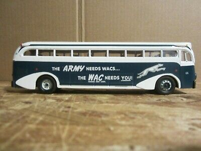$29.99 • Buy Corgi Classics Yellow Coach Bus Greyhound 743 Wac Army Twin Cities