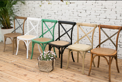 AU109 • Buy New Arrival Cross Back Dining Chairs French Provincial Oak Timber