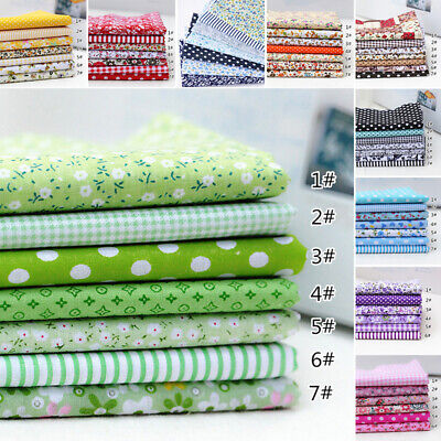 7X Mixed Cotton Fabric Material Sewing Value Bundle Scraps Offcuts Quilting TOP • 0.99£
