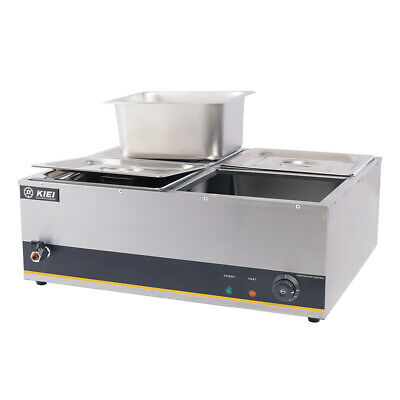 £109.95 • Buy Electric 4-Pan Commercial Stainless Steel Bain Marie Wet Well Buffet Food Warmer