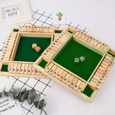 £14.79 • Buy 4 Players Shut The Box Board Family Game Wooden Traditional Dice Kids Children