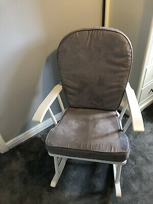 Mothercare Grey And White Rocking Chair For Nursery • 100£