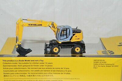 $21 • Buy HO Scale Herpa Promotex New Holland Tractor WE 170 Wheel Excavator Construction