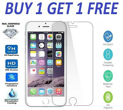 For Apple IPhone 7 Plus Tempered Glass – 100% Genuine Screen Protector • 1.23£