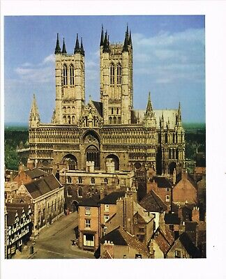 £3.29 • Buy Lincoln Cathedral Vintage Picture Print 1957 CLPBOBIC#40