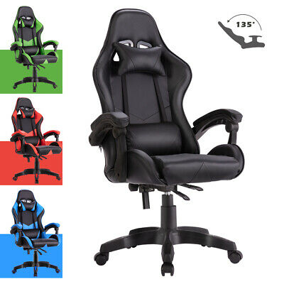 AU139.90 • Buy Adjustable Gaming Racer Chair Computer Executive Office PU Leather Mesh Seating