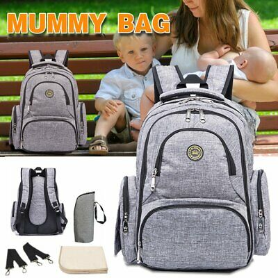 AU33.50 • Buy GENUINE QMBB Multifunctional Baby Diaper Backpack Changing Bag Nappy Mummy AU
