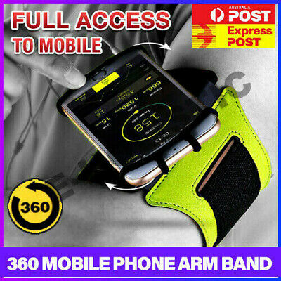 AU25.95 • Buy Running Jogging Gym Arm Band Holder Bag Case Armband For IPhone XS Max X Samsung