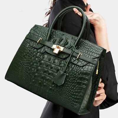 $ CDN63.02 • Buy 100% Genuine Leather Women's Elegant Crocodile Handbags Satchel Tote Designer