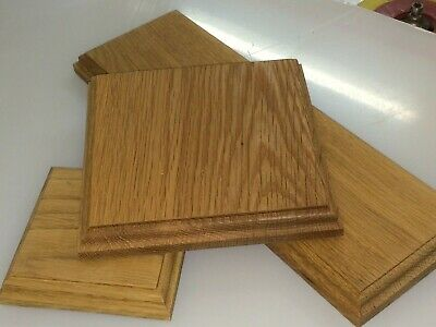 £4.62 • Buy Solid Hard Wood Oak Display Model Base And Plinths Many Sizes Wooden Bases