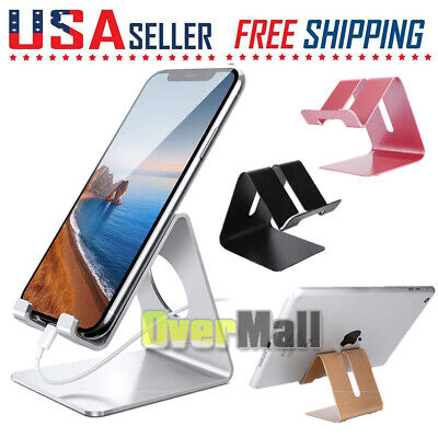 $6.43 • Buy Cell Phone Tablet Stand Aluminum Desk Table Holder Cradle Dock For IPhone IPad