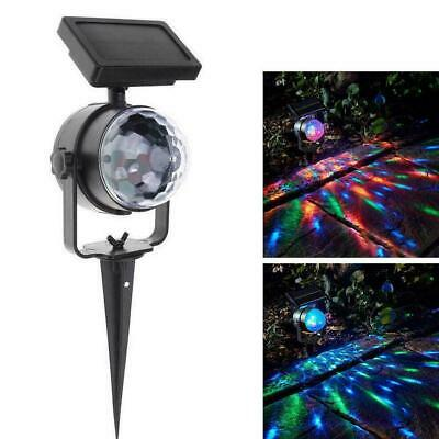 Solar LED Carnival Moving Colour Changing Spotlight Garden Light Party A0Y8 • 11.65£