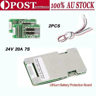 AU25.85 • Buy 2PCS 24V 20A 7S BMS PCB Protection Board For 18650 Li-ion Lithium Battery Cell #