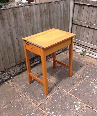 Vintage Retro Wooden School Desk • 49.99£