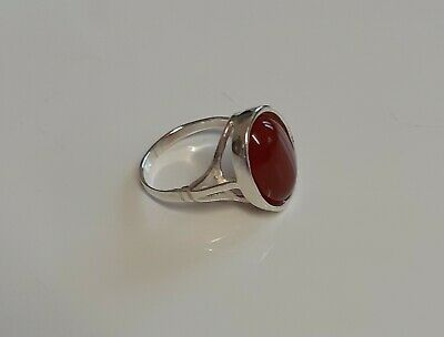 £20.39 • Buy BRAND NEW STERLING SILVER OVAL 14 X 10 RING SET WITH A CARNELIAN CABOCHON J-R