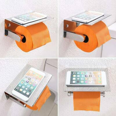 AU19.03 • Buy New Stainless Toilet Paper Holder Storage Roll Rack Tray Paper Stand Bracket KS