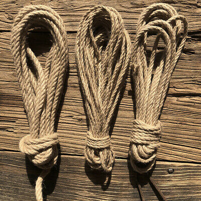 Natural Jute Rope DIY Craft Twisted Twine Braided Cord String 6-40mm 5-50 Metres • 13.14£