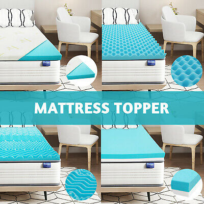 AU139.90 • Buy Mattress Topper 5/8cm Full Size Bed Memory Foam Toppers Cool Gel Underlay Cover
